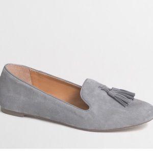 🆕Jcrew Gray Suede Tassel Loafers